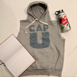 Capilano University sleeveless hoodie